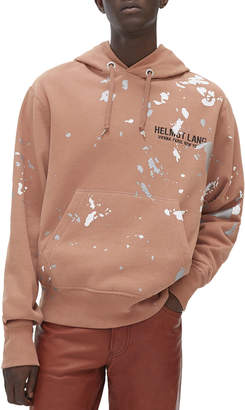 Helmut Lang Men's Paint Splattered Pullover Hoodie