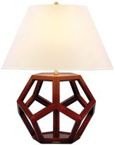 Table Lamp, Dustin Dodecahedron Mahogany
