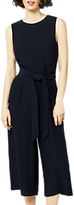 Warehouse Open Back Culotte Jumpsuit, Navy