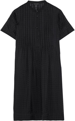 Rag & Bone Marcela Pintucked Burnout Silk Crepe De Chine Mini Dress