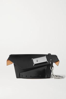 Maison Margiela Foldover Embellished Leather Shoulder Bag - Black