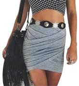TONSEE Women's Sexy Bandage Bodycon Mini Skirt (L, )