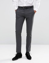 Selected Skinny Pinstripe Morning Wedding Suit Pants with Stretch