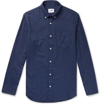 NN07 Levon 5190 Slim-Fit Button-Down Collar Cotton-Flannel Shirt