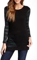 Patrizia Luca Stripe Sleeve Sweater