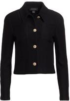 St. John Float Jacquard Knit Collared Jacket