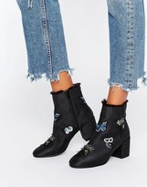 Asos REIKO Patchwork Ankle Boots