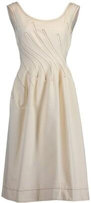 Marni Sleeveless Round Neck Fitted Waist Dress