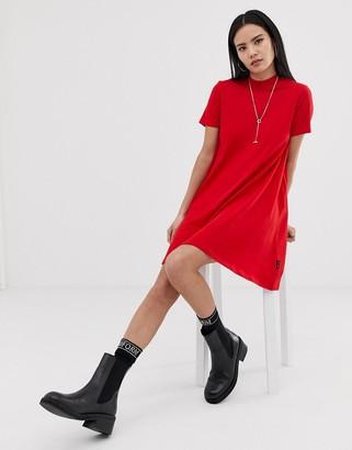 Cheap Monday Mystic logo a-line t-shirt dress-Red