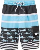 Snapper Rock Stripe Swordfish Boardies (Toddler, Little Boys, & Big Boys)