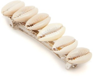 Timeless Pearly Shell-embellished Hair Clip - Pearl