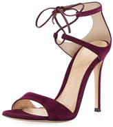 Gianvito Rossi Strappy Suede 105mm Lace-Up Sandal