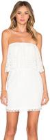 T-Bags LosAngeles Strapless Ruffle Mini Dress