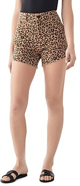 DL1961 Hepburn Leopard Print Shorts