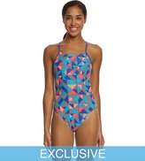 Nike SwimOutlet Exclusive Women's Optic Pop CutOut Tank One Piece Swimsuit - 8150790