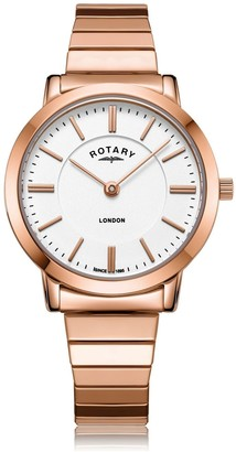 Rotary Watches London Collection Rose Gold Watch