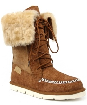 Superlamb Women's Lace Up Altai Wide Calf Boots Women's Shoes