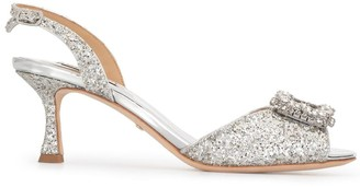 Badgley Mischka Ozara glitter sandals