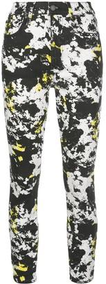Alice + Olivia Marble-Print Skinny Jeans