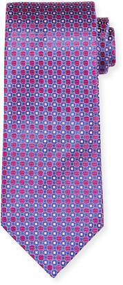 Charvet Men's Dotted Geometrics Silk Tie