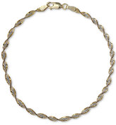 Giani Bernini Two-Tone Twist Bracelet, Created for Macy's