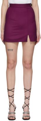 ATTICO Purple Wool Miniskirt