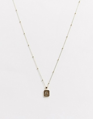 NY:LON gold pendant necklace
