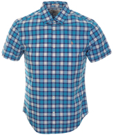 Original Penguin Slub Plaid Shirt Blue
