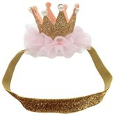 FTXJ Baby Girls Crown Headband, Elastic Flower Princess Headwear Hairband for