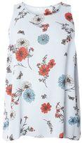 Evans Multi Coloured Floral Stripe Vest Top