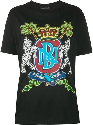 Neil Barrett emblem print T-shirt