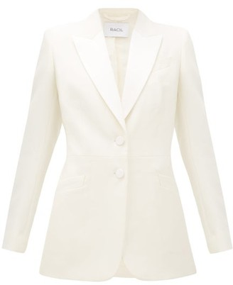 Racil Edward Single-breasted Grain-de-poudre Wool Jacket - Ivory