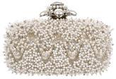Oscar de la Renta Chevron Bead Embellished Clutch