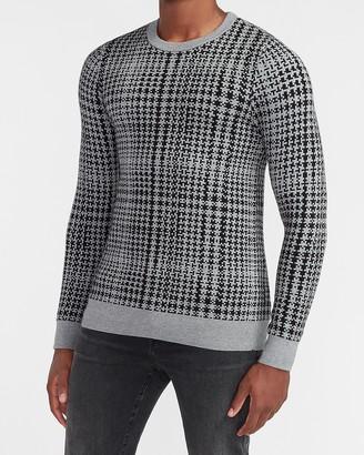 Express Plaid Crew Neck Sweater