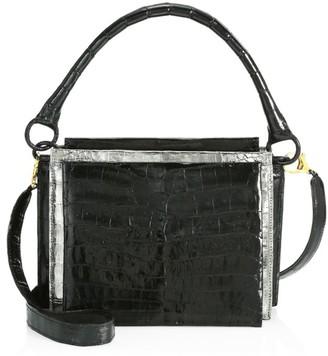 Nancy Gonzalez Small Radziwell Metallic Crocodile Top Handle Bag