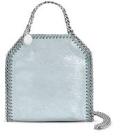 Stella McCartney light blue falabella shiny dotted chamois mini tote