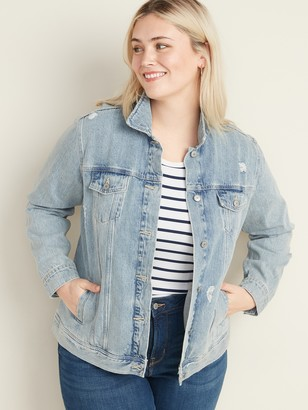 Old Navy Classic Plus-Size Distressed Jean Jacket