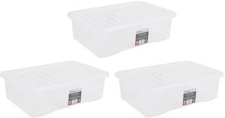 Wham Set of 3 32 Litre Plastic Storage Boxes