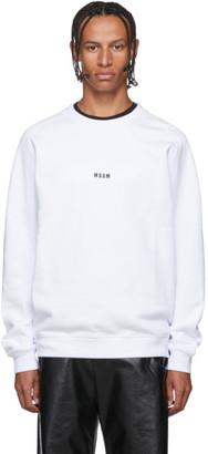 MSGM White Micro Logo Sweatshirt