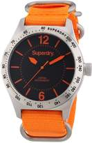 Superdry Men's 48mm Orange Canvas Band Steel Case Quartz Analog Watch Syg1120