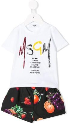 Msgm Kids Logo-Print Two-Piece Set
