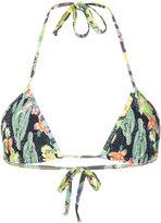 Ermanno Scervino cactus print bikini top