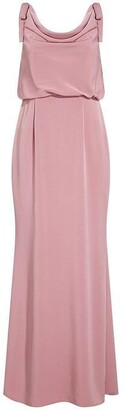 Adrianna Papell Cowl Crepe Dress