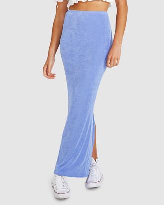 Don't Ask Amanda Misty Slinky Knit Maxi Skirt