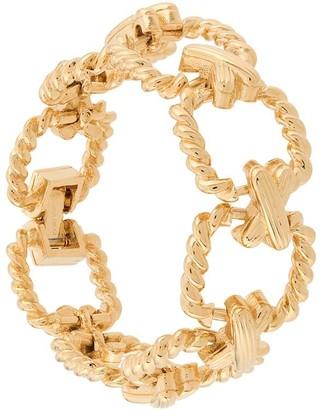 Susan Caplan Vintage 1980's Crisscross Link Bracelet