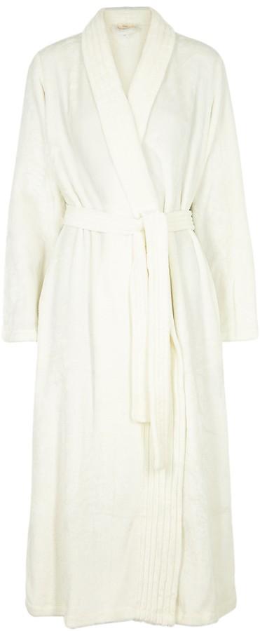 Eberjey Chalet Ivory Fleece Robe