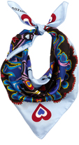 Mary Katrantzou Heart Flames-print silk-twill scarf