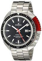 Edox Men's 53200 3NRM NIN Hydro Sub Analog Display Swiss Quartz Silver Watch