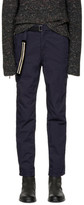 Sacai Navy Belted Cotton Trousers
