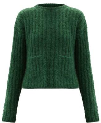 Sara Lanzi Ribbed Mohair-blend Sweater - Green